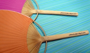 Personalized Paddle Fans w/ Handle Print (10 PACK)