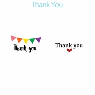 Personalized Thank You Favor Circle Label Stickers for Party Favors & Invitations