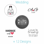 Personalized Wedding Favor Circle Label Stickers for Party Favors & Invitations