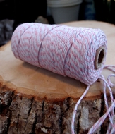 Pink Bakers Twine Decorative Craft String (110 Yards)