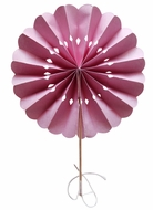 "BLOWOUT 8"" Pink Pinwheel Paper Hand Fans for Weddings (10 PACK)"