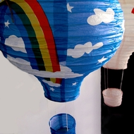 Rainbow Hot Air Balloon Paper Lanterns