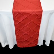 Red Pintuck Chameleon Table Runner - 12 x 108 Inch