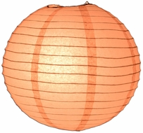 Rose Quartz Pink Round Even Ribbing Paper Lanterns
