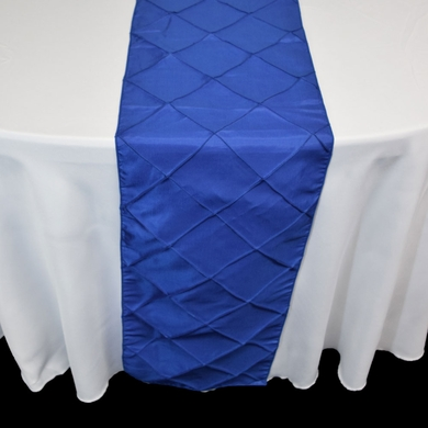 Royal Blue Pintuck Chameleon Table Runner - 12 x 108 Inch