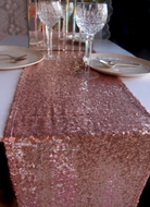 Sequin Table Runner - Copper Rose Gold (12 x 108)