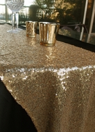 Sequin Table Runner - Gold (12 x 108)