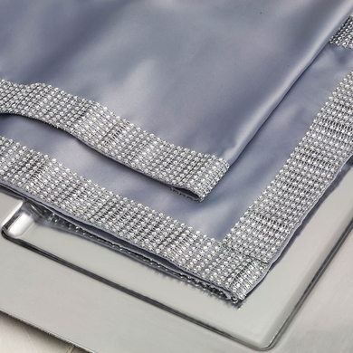 Silver Diamond Sequin Concave Mesh Table Runner (12 x 72)