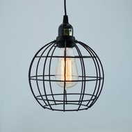 Sphere Shaped Vintage Edison Light Bulb Cage for Pendant Lights