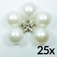 Transparent Pearl White 7-Watt Incandescent G40 Globe Light Bulbs, E12 Candelabra Base (25 PACK)