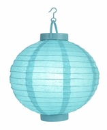 Water Blue LED Round Paper Battery Lantern