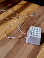 MoonBright™ 12-LED Super Bright Cube Light For Lanterns, Cool White (Battery Powered)