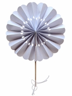 "BLOWOUT 8"" White Pinwheel Paper Hand Fans for Weddings (10 PACK)"