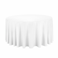 White Round Table Cloth Cover - 120 Inch