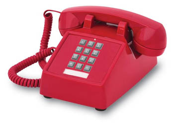 2500 Basic Desk Phone (Red)  (250047-VBA-20M)
