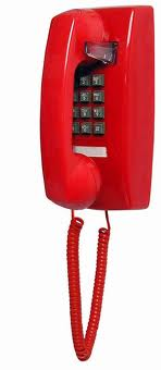 2554 Basic Wall Mount Phone (Red) - 255447VBA20M