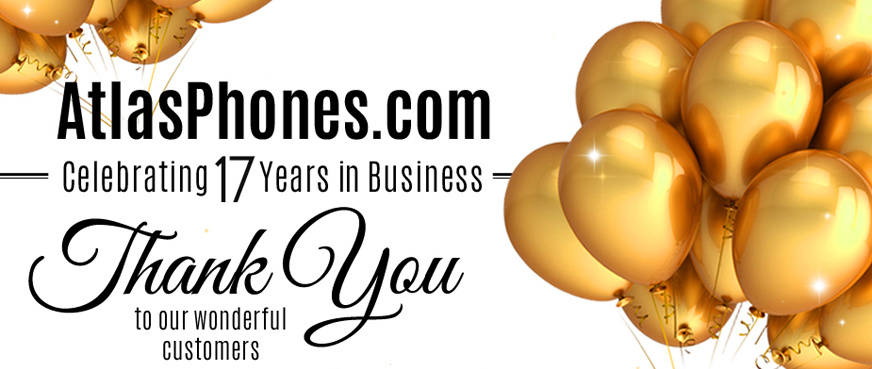 AtlasPhones.com Celebrating 17 years of buisness.