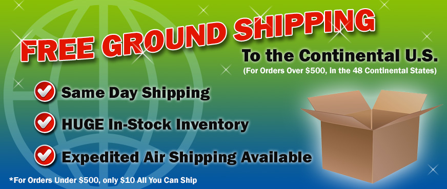 Free UPS Ground Shipping to the Continental US