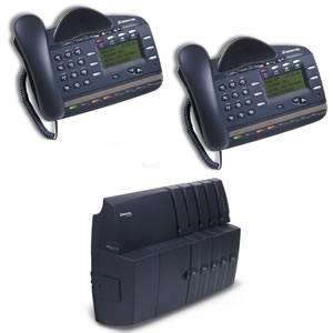 Mitel 3000 System Package 2x8 with two 8-button Phones - 50006071