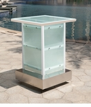All-Weather Collection White Powder Coated Metal Frame Corner
