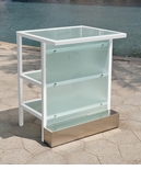 All-Weather Collection White Powder Coated Metal Frame Extension