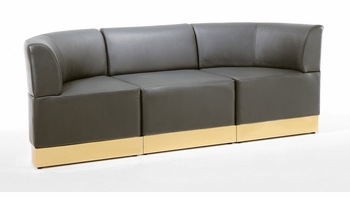 Black with Custom Kick Panel - Sofa