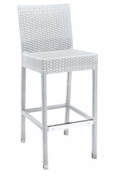 Commercial-Grade Outdoor Bar Stool (Bone)