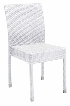 Stacking Commercial-Grade Outdoor Restaurant Chair (Bone)