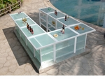 Custom All-Weather Collection White Powder Coated Metal Frame Bar Table