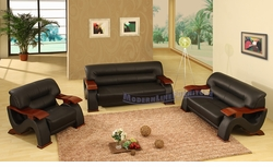 Liquidation! Modern Contemporary Black Leather Living Room Set