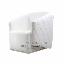 Liquidation! Only One Left! Modern White Leather Club Chair
