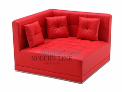 Liquidation! Red Button Tufted LARGE Chaise (PICK UP ONLY)
