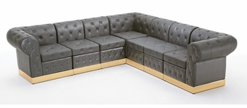 Tufted Black with Custom Kick Panel - Arrangement G4