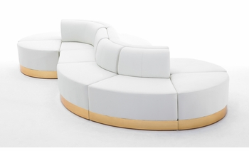 White with Custom Kick Panel - Seating Arrangement G14