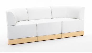 White with Custom Kick Panel - Sofa