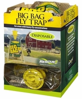 (12 DISPLAY CASE) Rescue - Disposable Non-Toxic BIG BAG Fly Trap ( Country Size ), BFTD-DB12