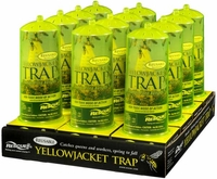 (12 DISPLAY TRAY) Rescue - Reusable Plastic Non-Toxic Yellow Jacket Trap, YJTR-DT12