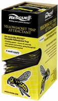 (36 DISPLAY CASE) Rescue - Yellow Jacket Trap Non-Toxic Attractant Refill (4 Week), YJTA-DB36