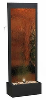 Alpine Bronze Lighted Mirror Waterfall  with Decorative Stones MLT100