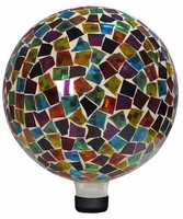Alpine Mosaic Gazing Ball - Red/Blue/Yellow GRS112