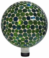 Alpine Mosaic Glass Gazing Ball - Blue and Green GRS116