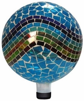 Alpine Mosaic Glass Gazing Ball - Blue/Green/Red GRS114