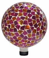 Alpine Mosaic Glass Gazing Ball - Pink and Yellow GRS110PK