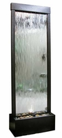 Alpine Silver Lighted Mirror Waterfall with Decorative Stones MLT102