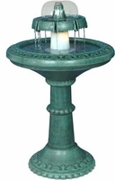 Alpine Two-Tiered Lighted Fountain TEC102