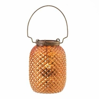 Amber Diamond-patterned Candle Lantern 15200