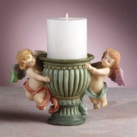 Angels with Urn Candleholder 30293