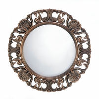 Antiqued Round Wall Mirror 10017056
