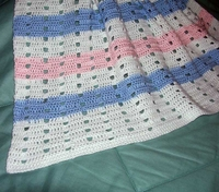Baby Afghan, Striped  US-2163