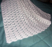 Baby Afghan, White  US-2158